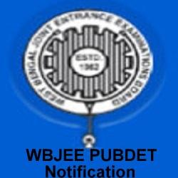 WBJEE PUBDET Notification 2019