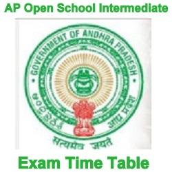 APOSS Inter Exam Timetable 2021