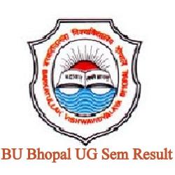 BU Bhopal UG Sem Result