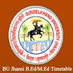 BU Jhansi B.Ed Time Table 2020