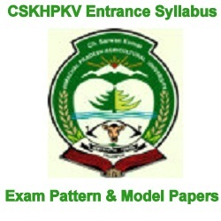 CSKHPKV Entrance Syllabus