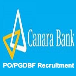 Canara Bank PGDBF Eligibility