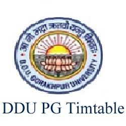 DDU PG Time Table 2020