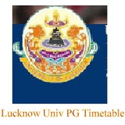Lucknow Univ PG Timetable