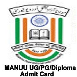 MANUU UG Admit Card