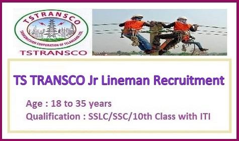 TS TRANSCO Jr Lineman Recruitment 2022