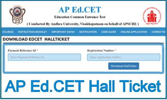 AP Ed.CET Hall Ticket