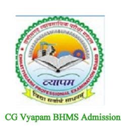 CG Vyapam BHMS Admission