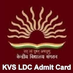 KVS LDC Admit card
