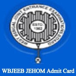 WBJEEB JEHOM Admit Card 2019