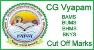 CG BAMS BUMS BHMS BNYS Cutoff 2020