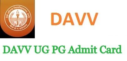 DAVV UG PG Admit Card