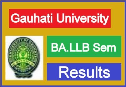 Gauhati University BA LLB Result 2021