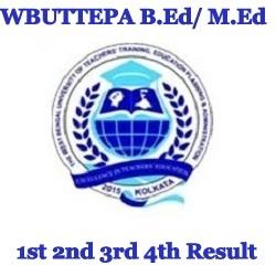 WBUTTEPA B.Ed M.Ed Result 2021