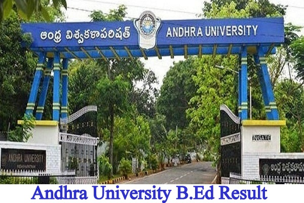 Andhra University B.Ed Result
