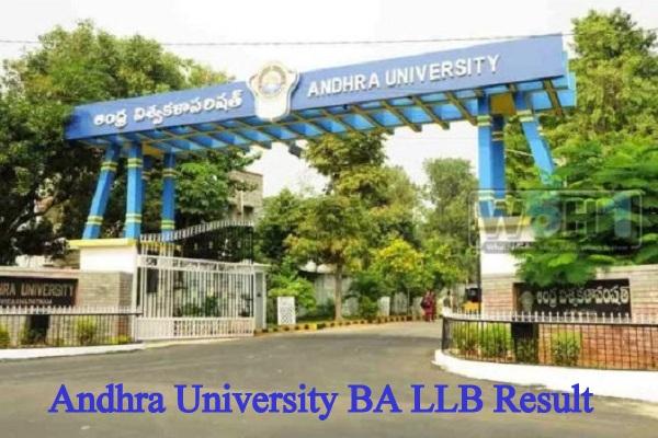 Andhra University BA LLB Result 2020