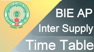 AP Inter Supply Time Table 2021