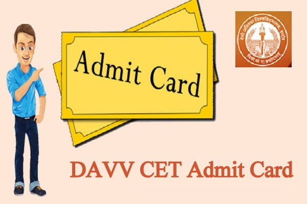 DAVV CET Admit Card