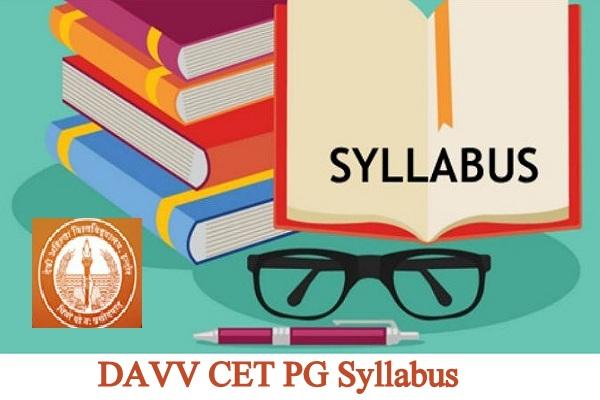 DAVV CET PG Syllabus