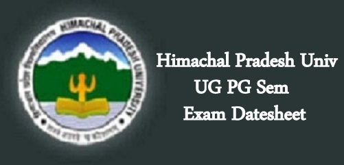 HPU UG PG Sem date sheet
