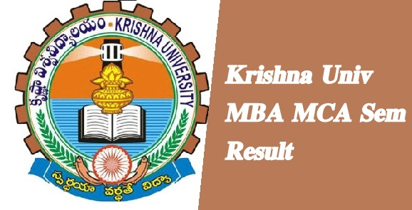 Krishna Univ MBA MCA 2nd 4th Result