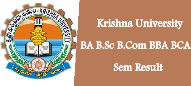 Krishna University Results 2021
