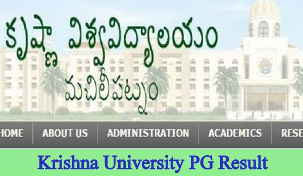 Krishna University PG Result 2020