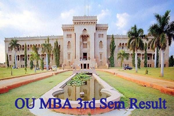 OU MBA 3rd Sem Result 2021