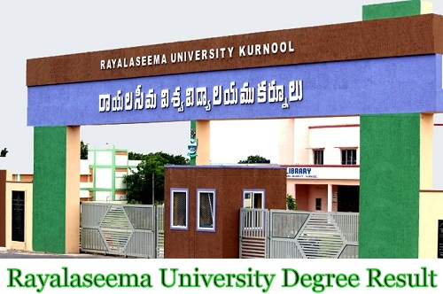Rayalaseema University Degree Result