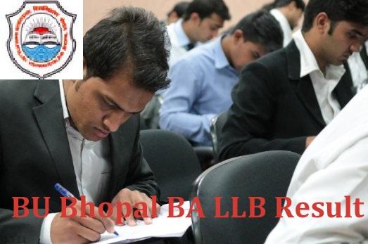 BU Bhopal BA LLB Result 2021