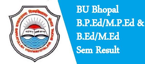 BU Bhopal UG Result 2021