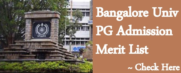 Bangalore Univ PG Merit List