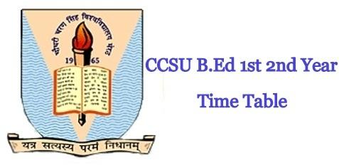 CCSU B.Ed Time Table 2020