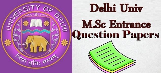 DU M.Sc Entrance Question paper 2021