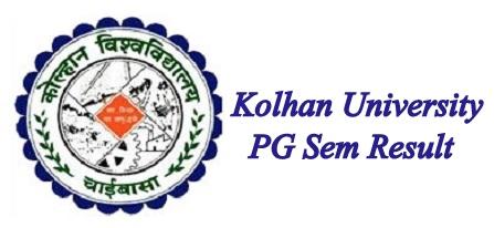 Kolhan University PG Result 2021