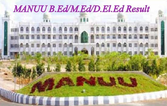 MANUU bed MEd deled Entrance Result 2020