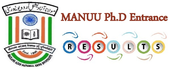 MANUU Ph.D Entrance Result 2020