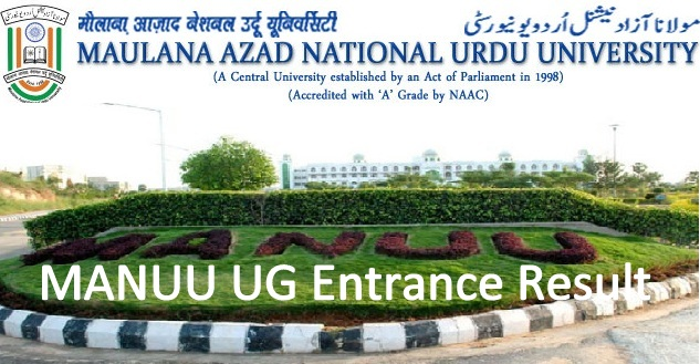 MANUU UG Entrance Result 2020