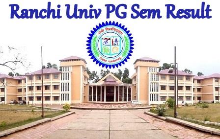 Ranchi Univ PG Result 2021