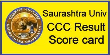 Saurashtra University CCC Result 2021