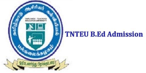 TNTEU B.Ed Admission