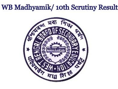 WB Madhyamik Scrutiny Result 2021
