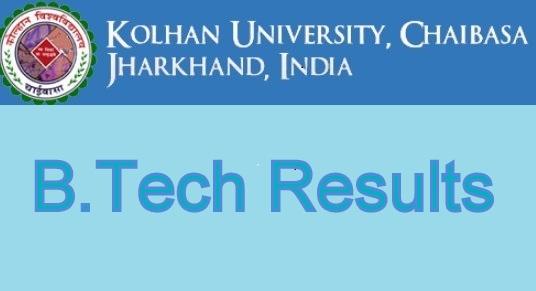 Kolhan University B.Tech Result 2021