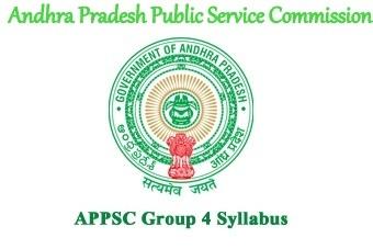 APPSC Group 4 Syllabus 2022