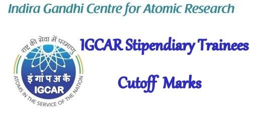 IGCAR Cut Off 2021