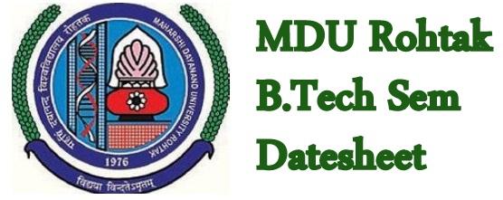 MDU B.Tech Date Sheet 2020
