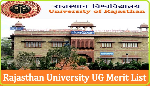 Rajasthan University UG Cut Off Merit List 2021