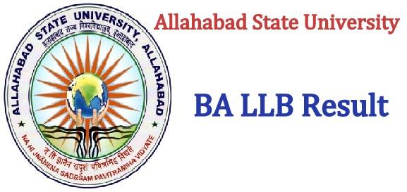 Allahabad State University BA LLB Result 2020