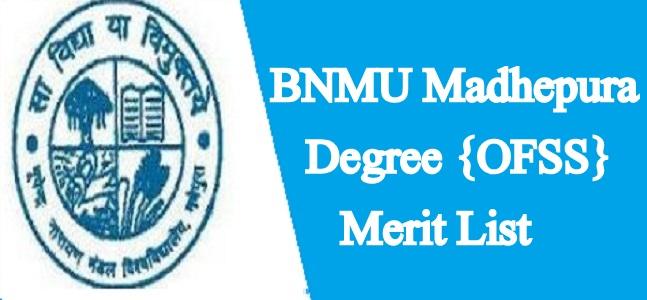 BNMU Merit List 2021
