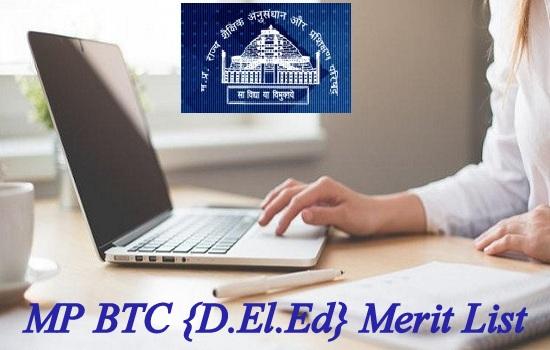 MP BTC {D.El.Ed} Merit List 2020
